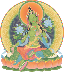 Green Tara 3_transparent